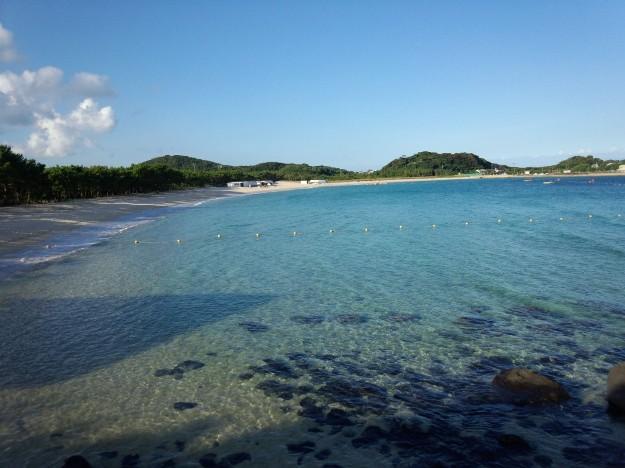 壱岐島の筒城浜海水浴場