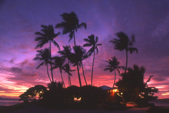ジープ島の朝焼け・夕焼け