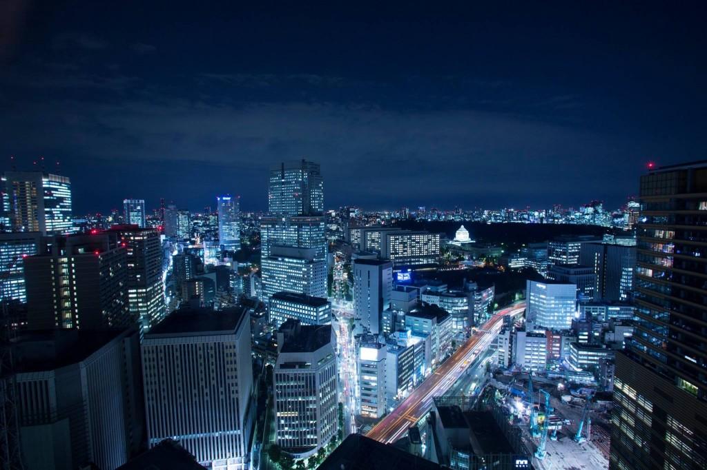 ANAインターコンチネンタルホテル東京からの夜景