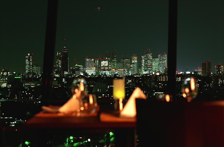 ホテルニューオータニ ザ・メインからの夜景