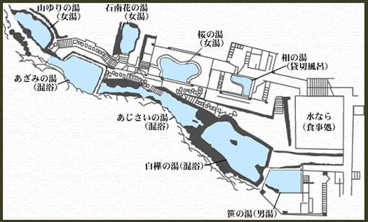 大丸温泉 案内図