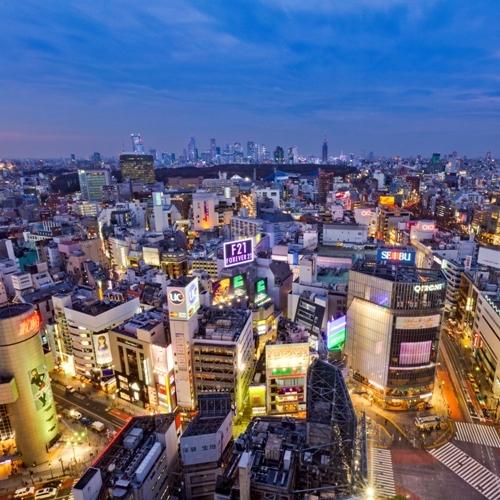 渋谷エクセルホテル東急からの夜景