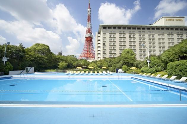 東京プリンスホテルのプール