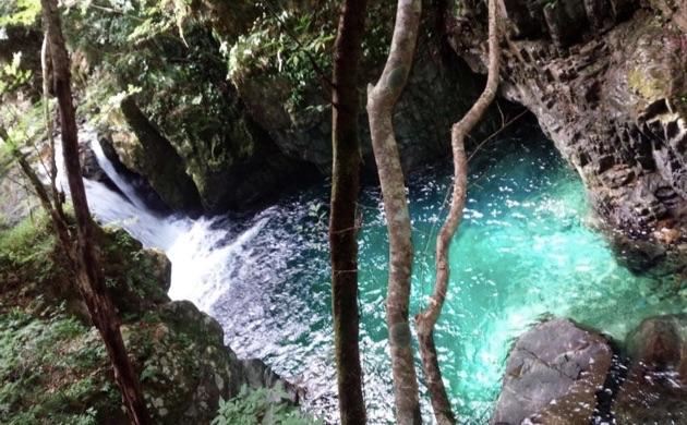 小坂町の三ツ滝
