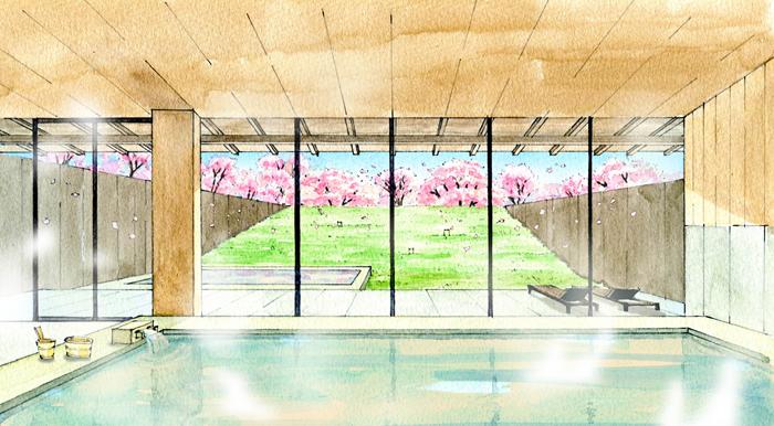 星野リゾート 界 鬼怒川の大浴場のイメージ図