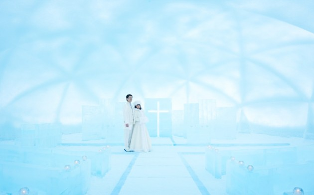 星野リゾート トマムの「氷の教会」
