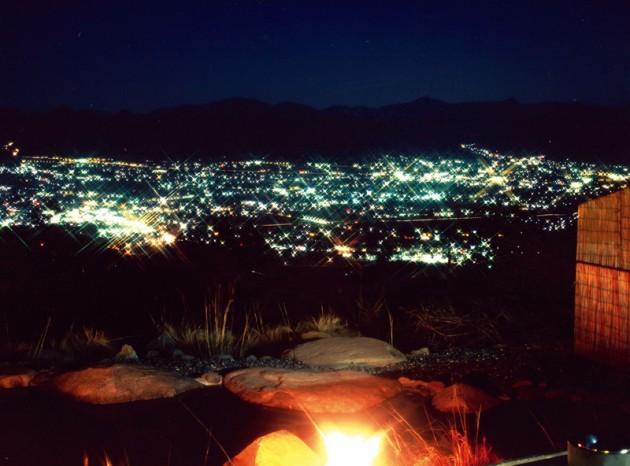 ほったらかし温泉 夜景