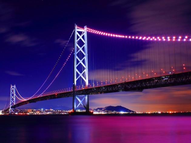 明石海峡大橋夜景