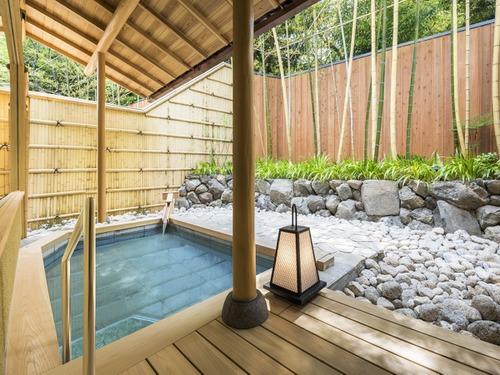 翠嵐 ラグジュアリーコレクションホテル 京都の温泉露天風呂