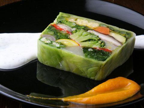有機野菜を使った20種類野菜のテリーヌ