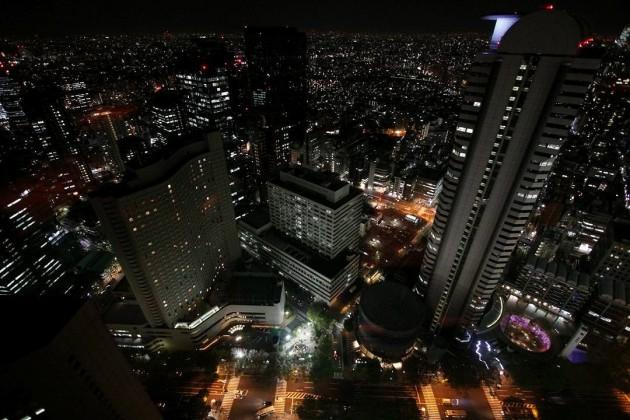 新宿の輝く夜景