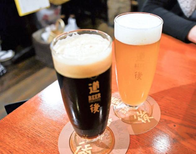 道後麦酒のビール