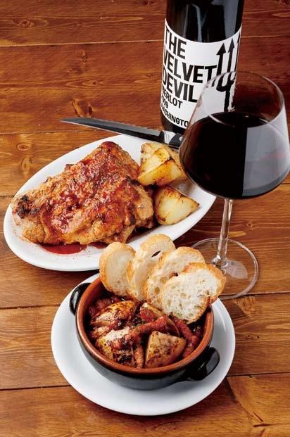 スパイシーでワインにぴったりの肉料理