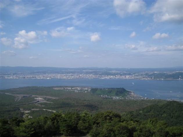 湯之平展望所から見た鹿児島市街地