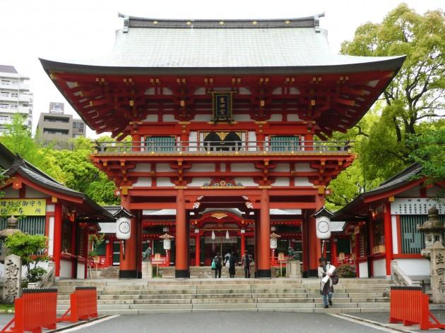 生田神社の正面