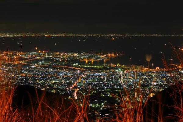 鉢巻展望台からの夜景