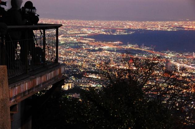摩耶山の展望台からの眺め