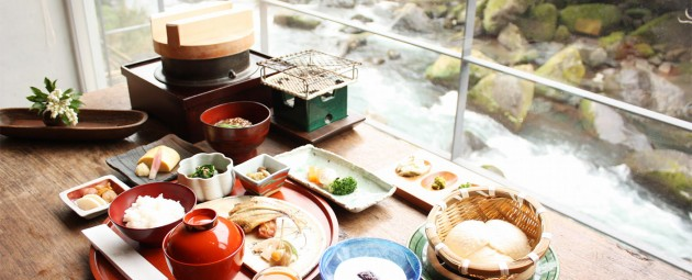 妙見石原荘のお食事