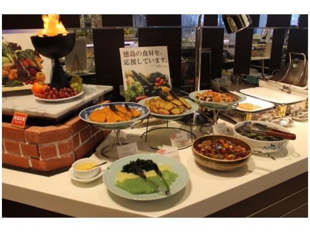 ホテルクレメント徳島の朝食一例