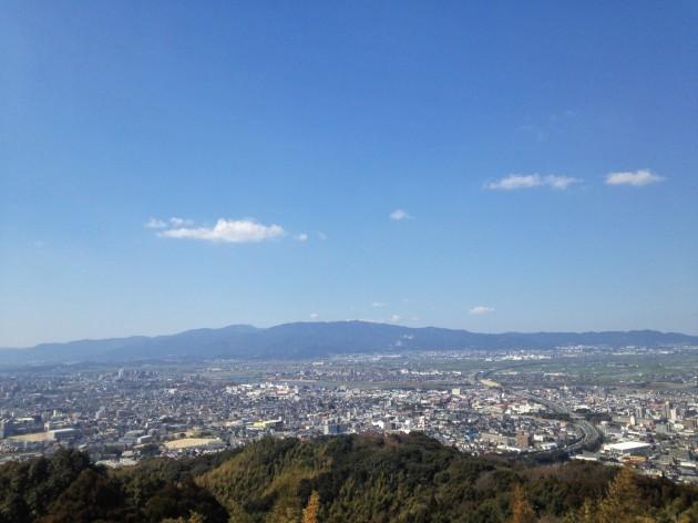 高良山の展望台からの眺め