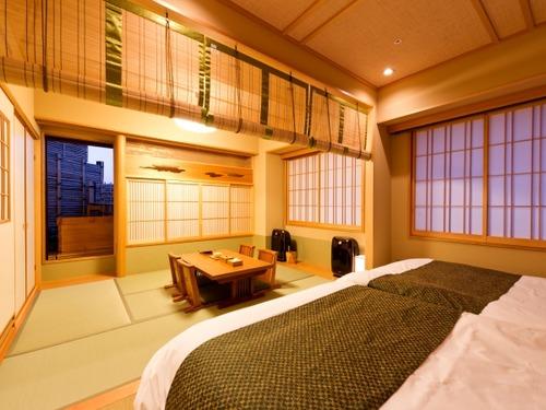 京都 嵐山温泉 花伝抄の客室一例