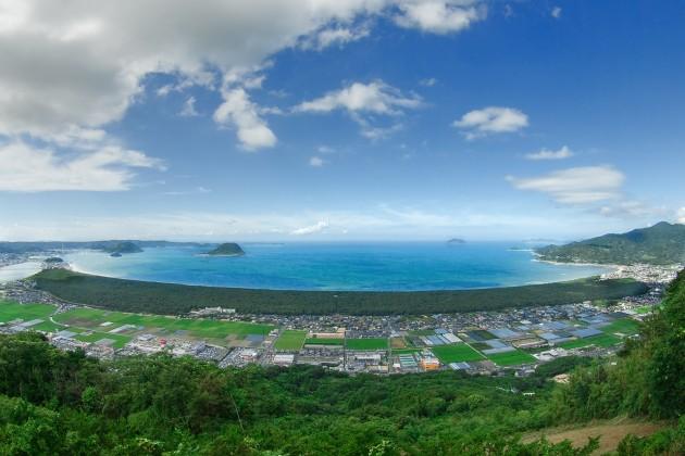 鏡山展望台から虹の松原全景