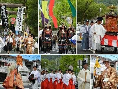 鹿児島神社でのお祭りの様子