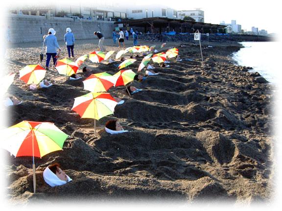 砂むし会館・砂楽(さらく)の砂むし風呂