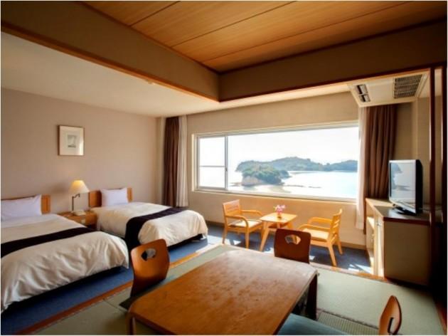 小豆島国際ホテルの客室一例