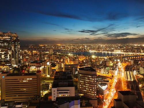 ホテル阪急インターナショナルからの眺め