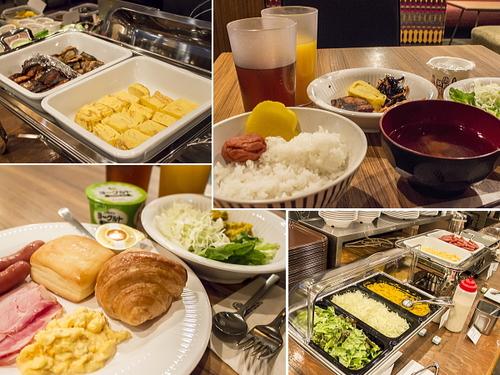 ハートンホテル心斎橋の朝食例