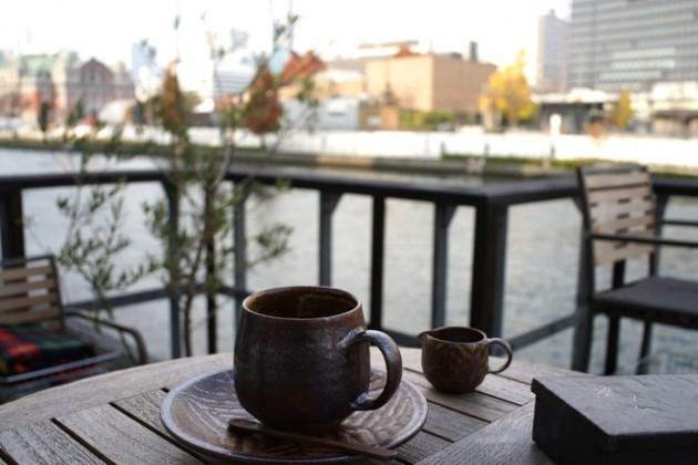 moto coffeeからの景色