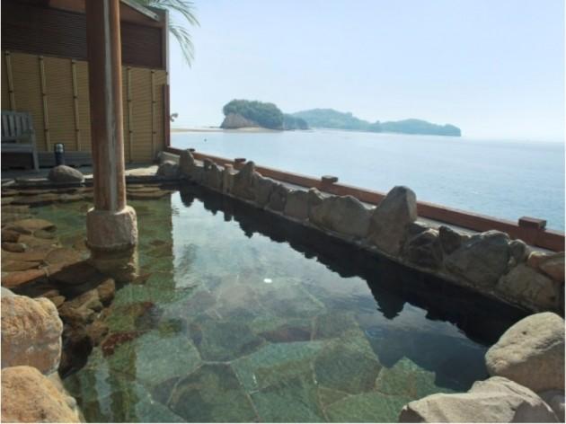小豆島国際ホテルの露天風呂