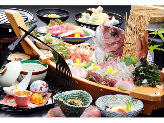 湯元小豆島温泉塩の湯オーキドホテルの食事例