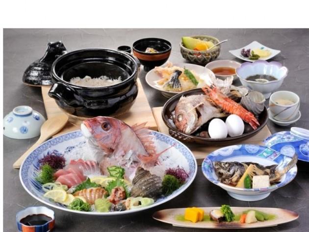 大潮荘の食事一例