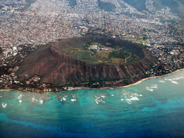 Diamond Head Crater Aerial