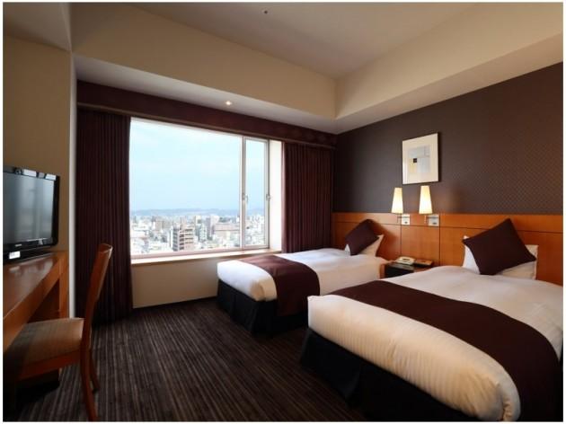 大分オアシスタワーホテルの客室一例