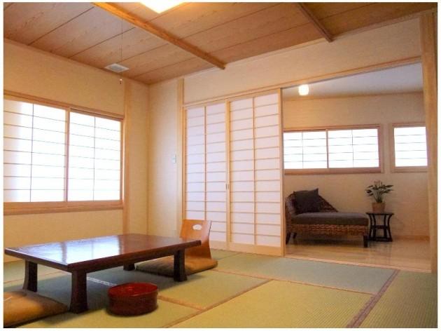 天然かけ流しの宿 湯菜花の客室一例