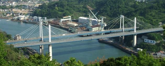 新尾道大橋と尾道大橋