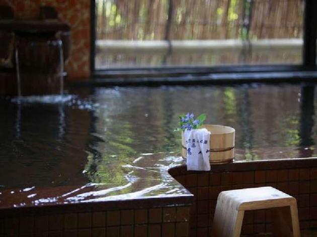 湯元湯の川の温泉の様子